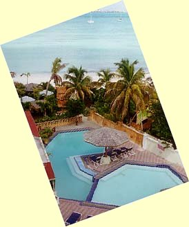 [IMG: View, looking down from your balcony]  (c) 1997 GoBeach Vacations