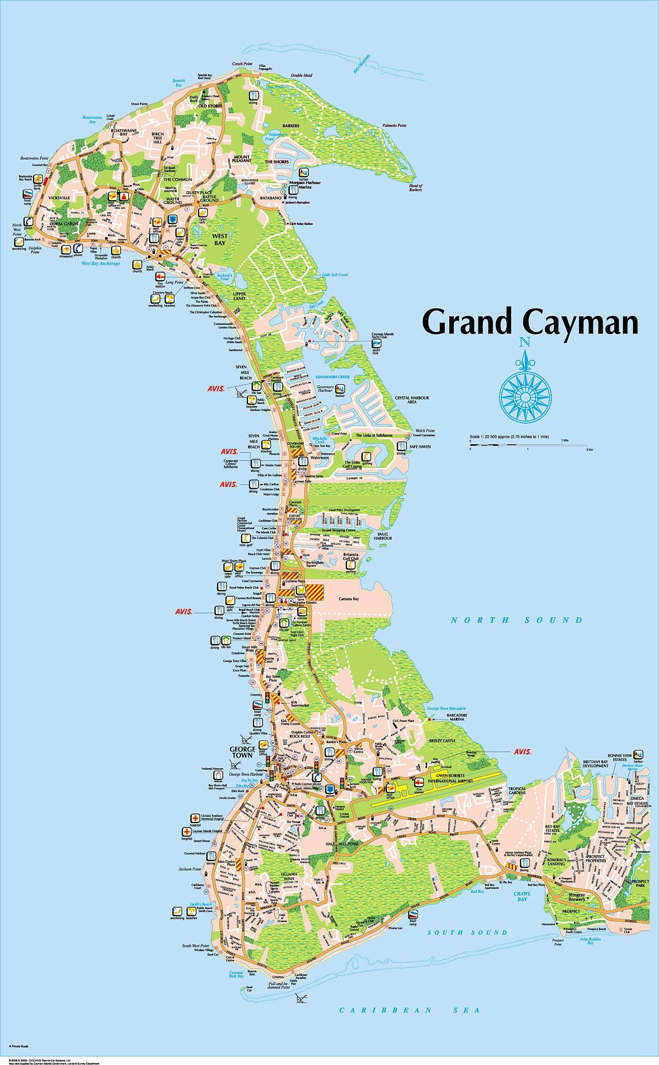 Seven Mile Beach Map Of Condos